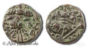 Antike Bronzemünze aus Kaschmir