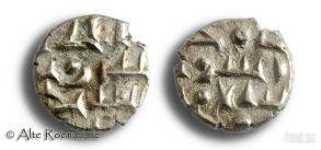 Indische Silbermünze