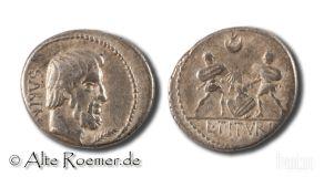 Titurius Sabinus denarius - murder of Tarpeia