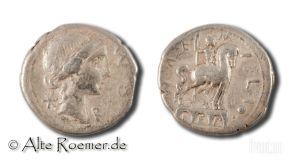 Aemilius Lepidus denarius - equestrian statue