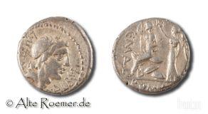 P. Malleolus, A P Albinus and L Metellus - denarius