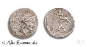 Roman Republic denarius - M Herennius