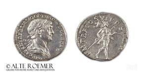 Vorzüglicher Denar des Trajan