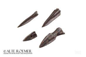 Four Greek or Scythian arrow heads