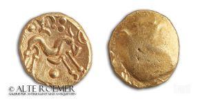 Keltischer Goldstater mit Pferd - Ambiani