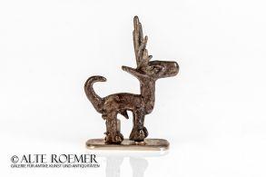 Massive scythian silver figure of a deer