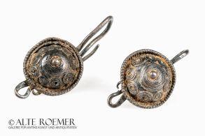 Buy Roman silver earrings with shield