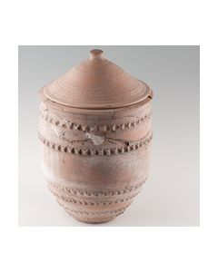 Large decorated Etruscian urn with lid - found in Orvieto