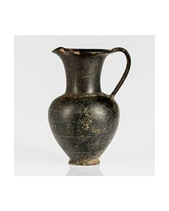 Etruscan bucchero oinochoe from Tarquinia