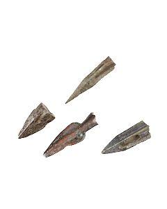 Vier griechische oder skythische Pfeilspitzen