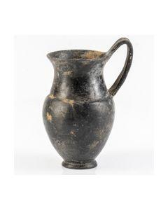 Etruscan bucchero olpe found in Sezze area