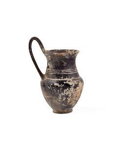 Etruscan bucchero olpe found around Sezze