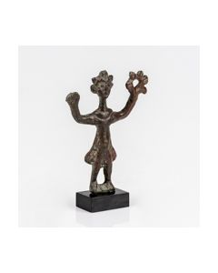 Published coptic bronze figurine of a standing woman
