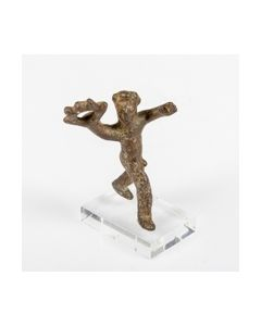Published coptic bronze figurine of a running man