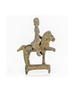 Roman bronze figurine of a horseman