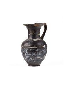 Early large Etruscan bucchero oinochoe